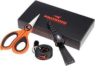 KastKing Fishing Line Scissors, Braided Line Cutters, w/Sheath, Super Sharp 3CR13 Japanese Stainless Steel Blades, Non-Sli...