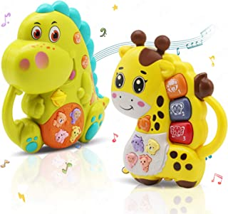 INTEGEAR 2 Pack Baby Musical Toys, Educational Light Up Toy with Sound and Piano Keyboard Gift for Toddlers 12 Months and ...