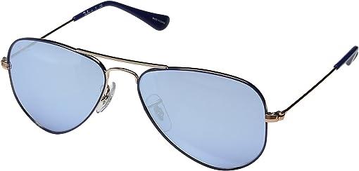 Blue/Blue Flash Silver