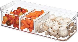 iDesign Casier Rangement pour Frigo (37,6 cm x 16,1 cm x 9,6 cm), Grand Bac Alimentaire en Plastique sans BPA, Bac Rangeme...