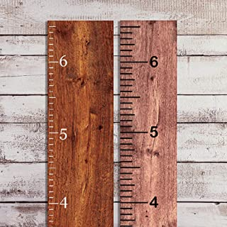 Vinyl Growth Chart Decal 6.5' Tall DIY Ruler Decal Kit Kids Height Ruler Measuring Tape Sticker (Matte White, 3.25in Wide x 6.5ft. Tall)