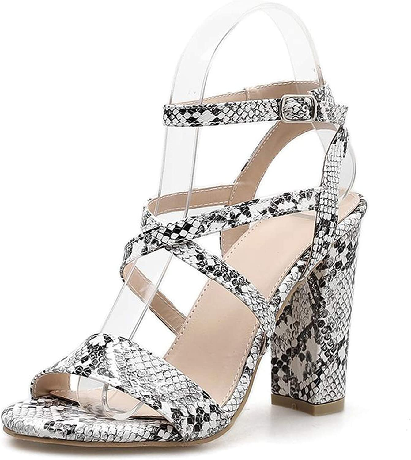 April With You 2019 Serpentine Gladiator Sandals High Heels Fashion Women Open Toe Cross-Tied Sandals Size 35-40