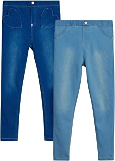 Nanette Lepore Girls' Jeggings - 2 Pack Super Stretch Denim Jeans Leggings (Big Girl)
