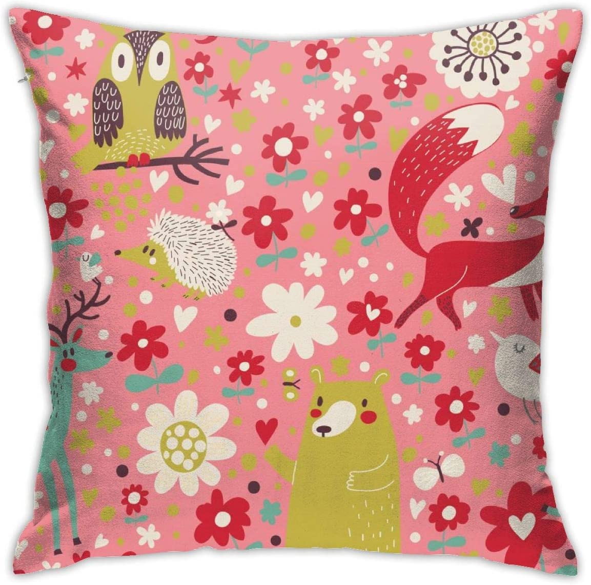 Colorful Cute Bear Fox Deer Decorative Throw Max 90% 2021new shipping free shipping OFF 转换-01 Birds Owl