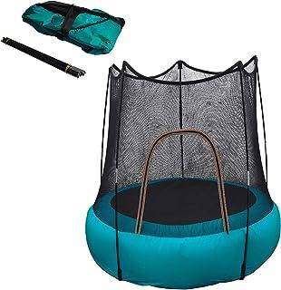 Barn Mini uppblåst studsmatta, 46-i inomhus och utomhus studsmatta med skyddsnät, vattentät hopfällbar studsmatta, lätt at...
