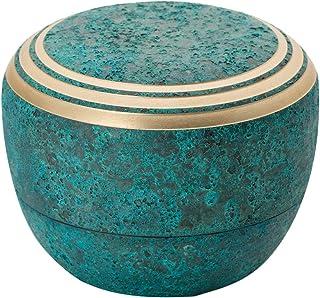 ソウルプチポット ミニ骨壷 カナタ 青銅色 真鍮 手元供養 分骨用 ミニ骨壺 663 ブルー