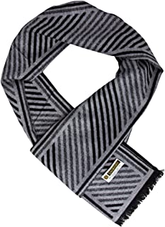 "Sandory Soft, Reversible, Classic Styles, 12"" x 72"" Mens, 100% Brushed Silk Scarf, Cashmere feeling"