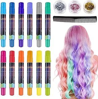 comprar comparacion Lictin Tiza para el cabello Tintes capilares con tiza Para niños y niñas Pluma de tinte temporal para el cabello de destel...