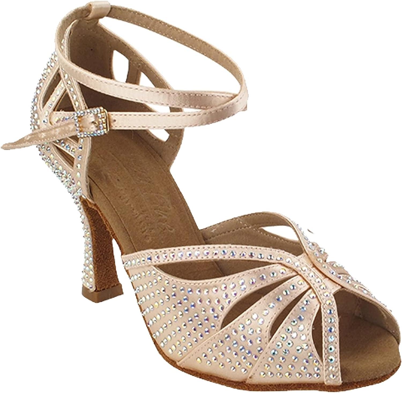 Women's Ballroom Dance Shoes Tango Wedding Salsa Shoes S1003CCEB Comfortable Very Fine 2.5