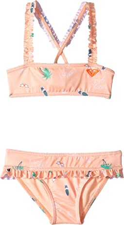 Salty But Sweet Bandeau Swim Set (Toddler/Little Kids)