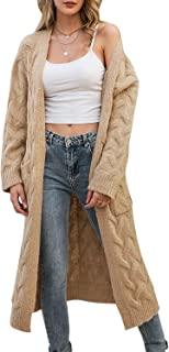 Simplee Apparel Women's Open Front Long Sleeve Knit Cardigan Sweater Coat