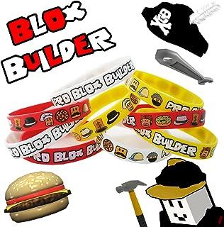 12 Blox Builder Bracelets Birthday Game Truck Party Favor