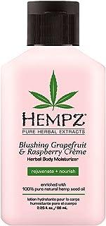 Hempz Blushing Grapefruit & Raspberry Creme Herbal Body Moisturizer Lotion - Fruit Body Cream - Pure Hempseed Oil, Shea Bu...