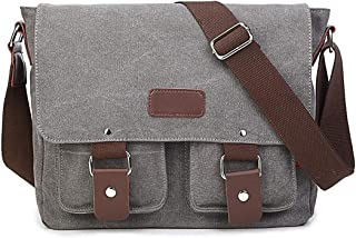 Mens Bag Shoulder Bag Men's Briefcase Zippered Canvas Waterproof Messenger Bag High capacity