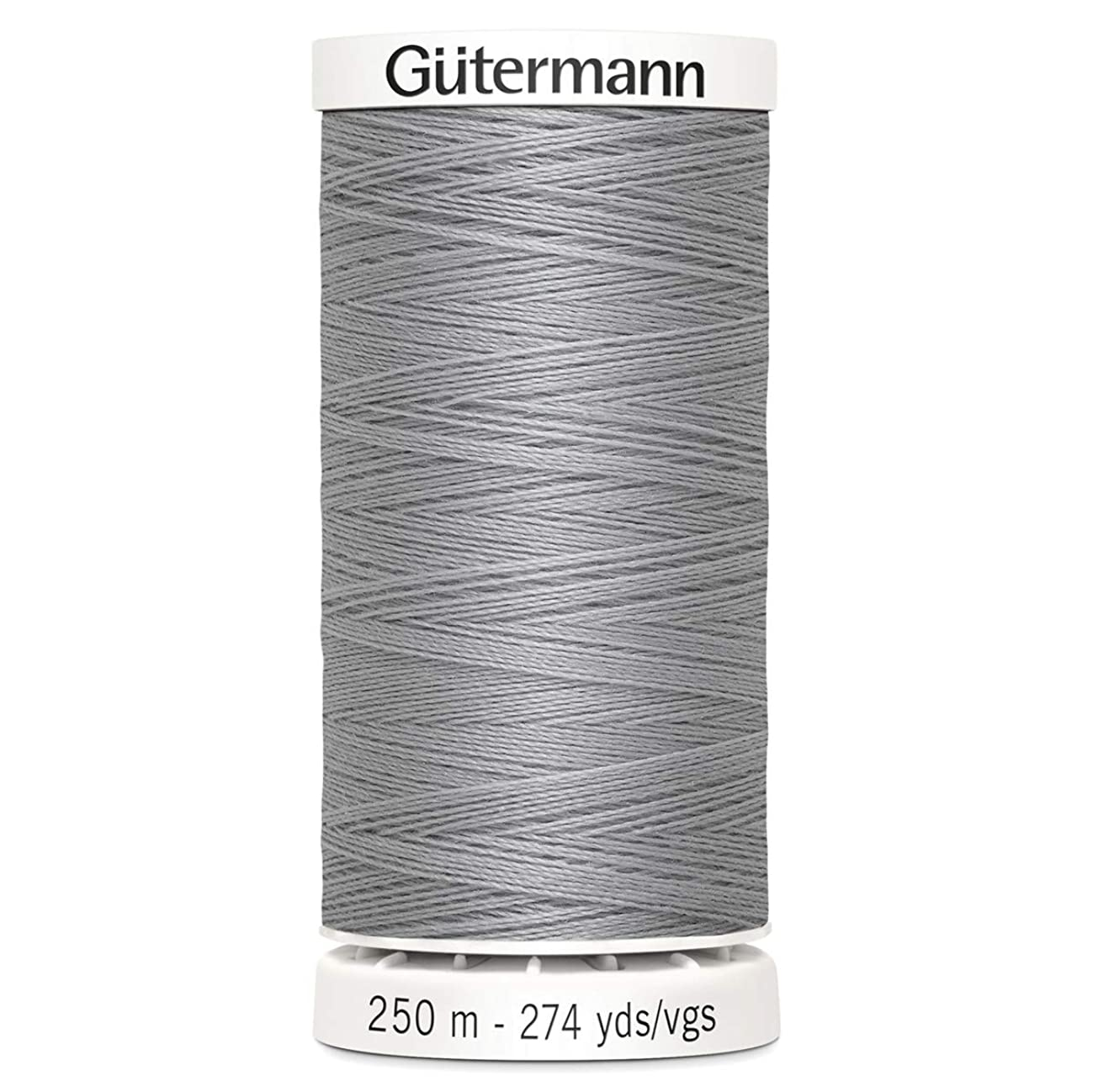 Gutermann Sew All Polyester Thread, 250mtr, Fog Grey (0038), 5.5 x 2.7 x 2.7 cm