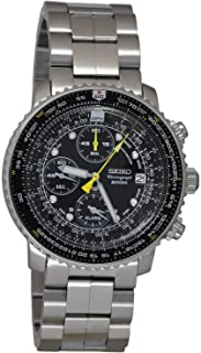 Seiko Mens Seiko Flightmaster Chronograph Analog sport Quartz SNA411P1