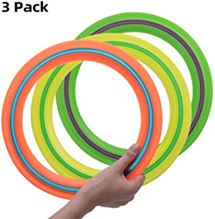 OUOnDAD Frisbee Flying Disc Toys for Kids Adult 11'' Flying Ring - Best Outdoor Toy Gift
