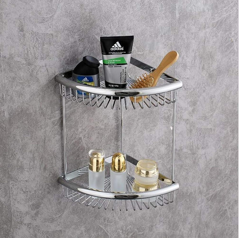 LUDSUY Bathroom Corner Shelf pink gold Soap Holder Dual Tier Brass Bathroom Shelves Bathroom Shampoo Holder Basket Bathroom Holder,BBathroom Accessories