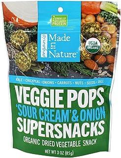 Made in Nature Organic Veggie Pops Sour Cream Onion Supersnacks 3 oz 85 g