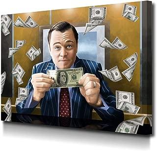 Foto Canvas Cuadro El Lobo de Wall Street | Lienzos de Arte Moderno - Decoración Pared - Cuadros de Salón - para Emprendedores | 40 x 30 cm sobre Bastidor de Madera Grueso Listos para Colgar