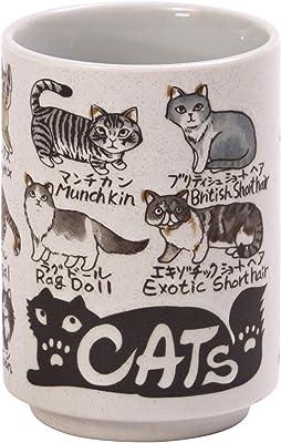 山志製陶所 湯呑 Cat 280ml 中切立JAPANシリーズ C3-26