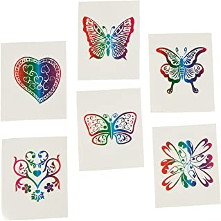 Fun Express 72 Rainbow Glitter Temporary Tattoos/Party Favors Novelty
