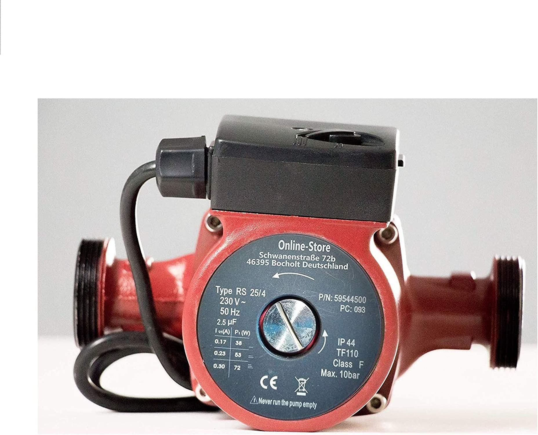 Circulador doméstico RS 25 4-180 Bomba de circulación Circuladoras bomba recirculadora solar Bombas calderas parqa calefaccion y agua caliente