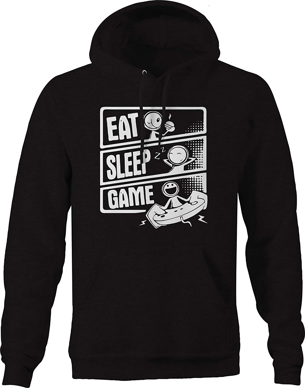 Eat Sleep Video favorite Game Gamer Tampa Mall Black Hoodies Men for
