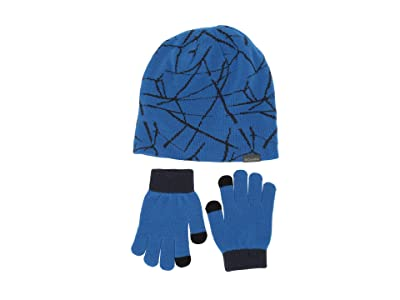 Columbia Kids Hat Glove Set II (Little Kids) (Super Blue Fractile Ice) Beanies