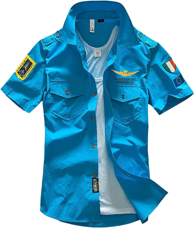 Corumly Men's Short-Sleeved 5 Free shipping ☆ popular Shirt Summer T American and European