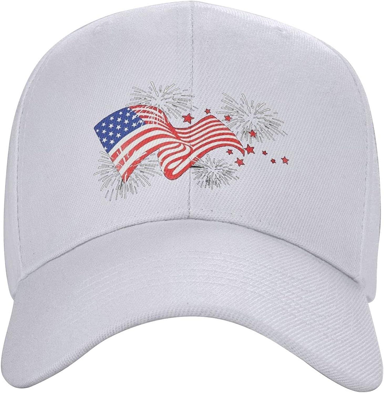 carati American Flag Fireworks Patriotic Hat Cool Baseball Caps Dad Hat Trucker Cap Running Hats Teenager Men Women