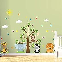 Adesivo de Parede Árvore Safari Infantil para Quarto