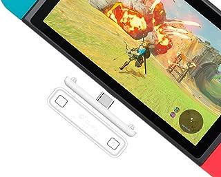 Gulikit Route Air 无线蓝牙音频发射器适配器 APTX 低延迟兼容任天堂开关,PS4 PC 笔记本电脑适用于 Airpods 蓝牙耳机扬声器(白色-红色)