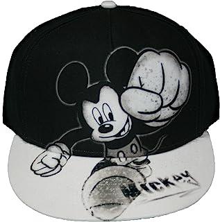 Disney Mickey Mouse Smash Flat Bill Mens' Baseball Hat, Gray, One Size