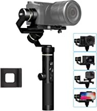Feiyu G6 Plus Splash-Proof 3-Axis Handheld Stabilizer Gimbal Compatible with GoPro Hero Series of Action Camera/Smartphones/Mirrorless Cameras/Pocket Cameras, 1.75 lbs Max Load