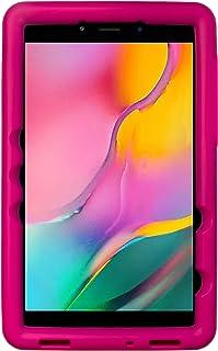 BobjGear Bobj Rugged Tablet Case for Samsung Galaxy Tab A 8.0 (2019) SM-T290, SM-T295 Kid Friendly (Rockin Raspberry)