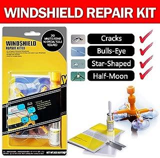 Windshield Repair Kit, Car Windshield Repair Tool with Windshield Repair Resin for Windshield Chip and Crack Repair, Bulls-Eye, Spider Web, Star-Shaped, Nicks, Half-Moon Crescents