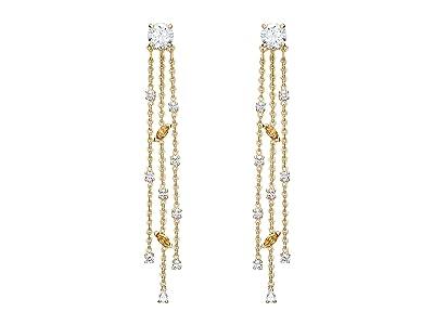 Swarovski Botanical Tassel Pierced Earrings (CZ White) Earring