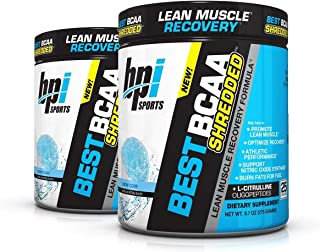 BPI Sports Best BCAA Shredded (2 Pack) Caffeine Free Thermogenic Recovery Formula for Lean Muscle Growth (25 Servings) (Sn...