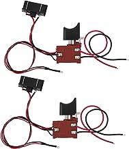 Interruptor de gatillo de sierra de regulación de velocidad continua universal Interruptor de control de sierra Interruptor de sierra con luz Durable para sierra de 12V-21V