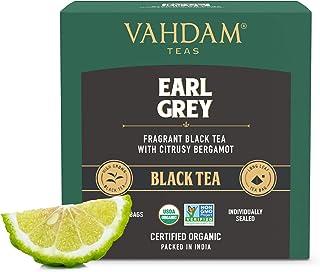 Brew Hot or Iced Earl Grey Citrus Black Tea Pyramid 15 Tea Bags and Bergamot Oil