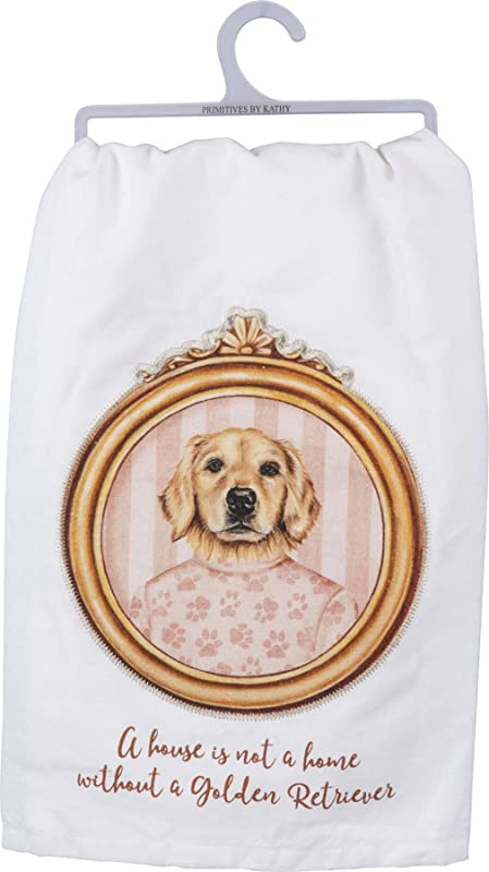 Primatives By Kathy Fun Dish Towel Some Of My Favorite People Are Dogs Golden