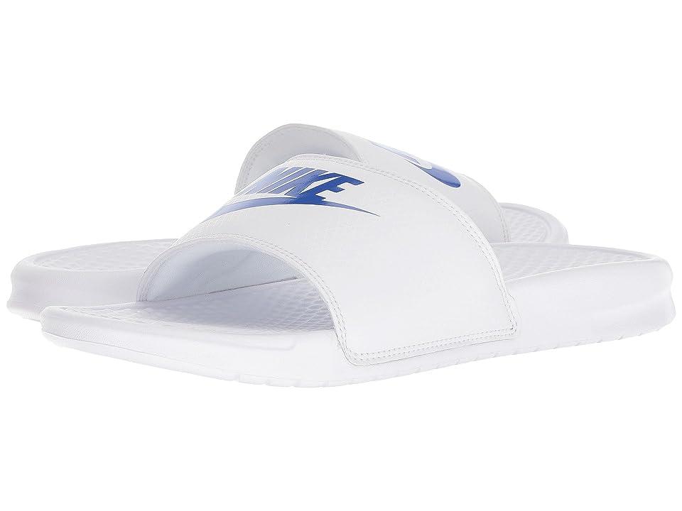 Nike Benassi JDI Slide (White/White/Varsity Royal) Men