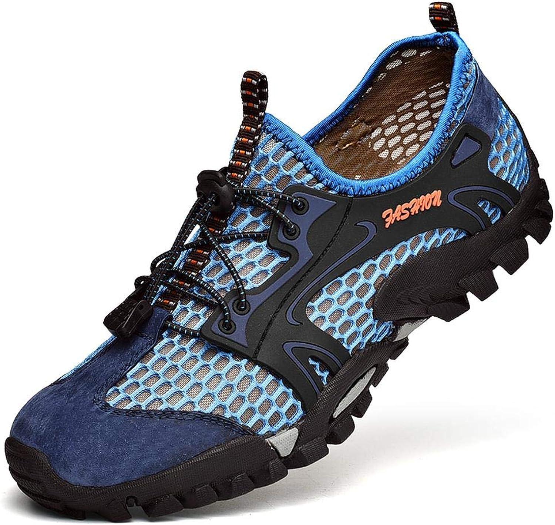 QIKAI Hiking shoes Net shoes men's shoes summer men's outdoor sports shoes breathable mesh shoes