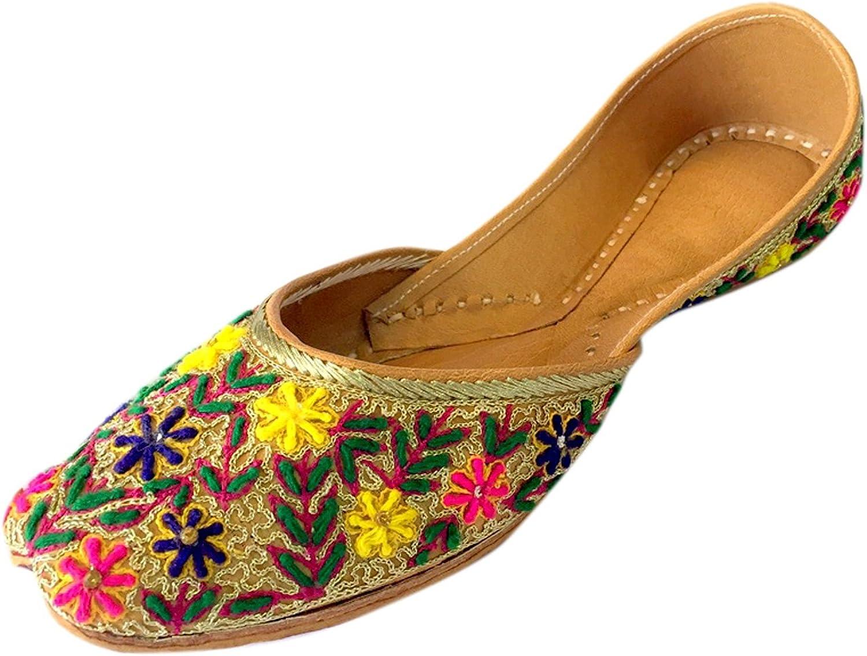 Step n Style Women Flat Jaipuri Sandal Woolen Thread Multi Work Khussa shoes Punjabi Jutti