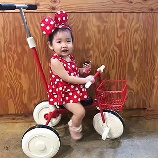 致暖Warmest 儿童三轮车小孩自行 推把儿童三轮车手推车脚踏车自行车宝宝童车 1-3岁 日本出口 (红色)