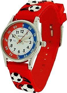 Reflex Time Teacher Kids Boys Red 3D Silicone Football Strap Watch REFK0008