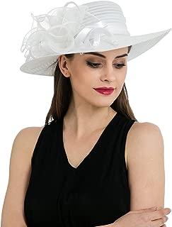 Women's Organza Church Kentucky Derby Hat Floral Ribbon Fascinator Bridal Tea Party Wedding Hat