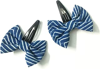 JADE Bow Hair Clip - Girls Fashion Hairclips– Handmade Hair Accessories for Girls – Toddler Girls Hair Clip (Light Blue)