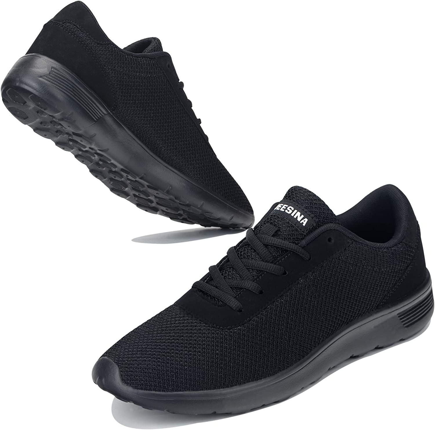 JEESINA Men's Running Shoes - Lightweight and Comfortable Slip-On Breathable Walking Sneakers